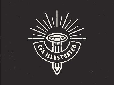 CFA Illustrated halo pencil identity illustration