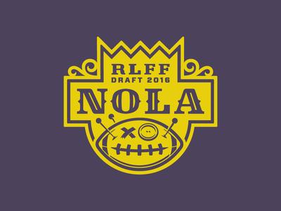 Voodoo Ball voodoo new orleans fantasy football logo identity