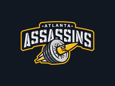 Atlanta Assassins team gym workout bullet logo crossfit