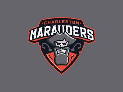 Charleston Marauders kettle bell sports charleston fitness pirate crossfit identity logo
