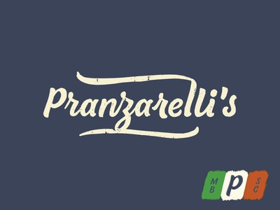 Personal Pranz Pizza italian restaurant pizza script logotype logo identity