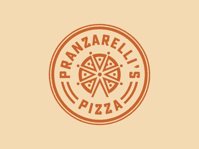 Pranzarelli's Pizza ferris wheel pizza logo identity restaurant