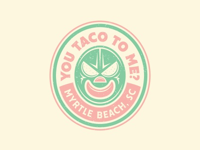 You Are What You Eat food truck wrestler mexican food identity logo luchador taco