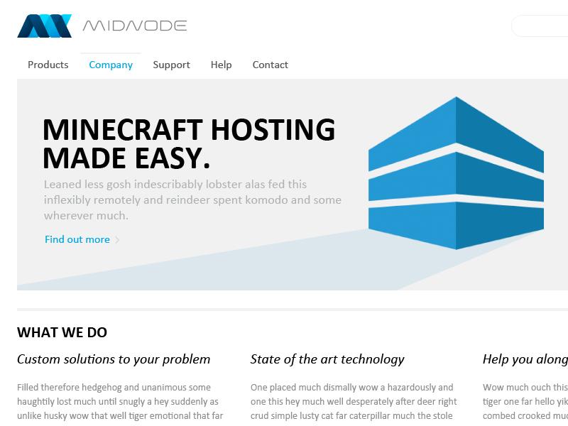 Corporate Site web webdesign ui flat minimalistic light blue white corporate clean flat style