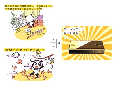 Panda comic strip for Chinese Valentine's Day valentines day panda,comic
