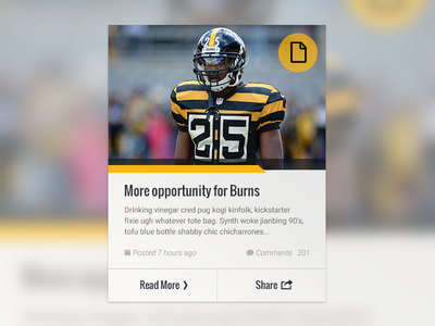 Featured Content Card