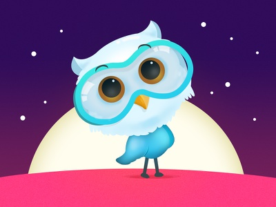 little Owl design mascot