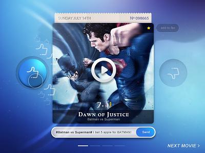 Movie Rank Demo app ui