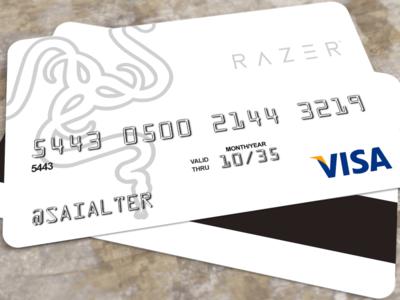 Random Idea: Razer Credit Card muted colors card visa credit card razer