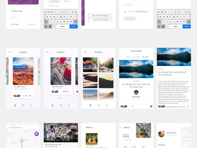 Simple UI free ui app mobile template ui