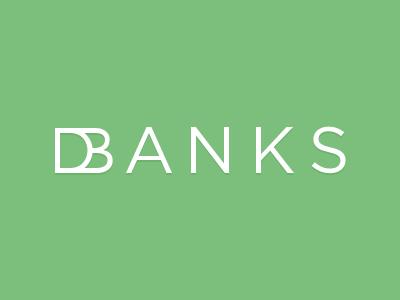 dbanks logo logo typography gotham logotype green