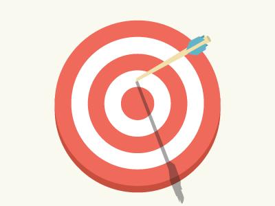 Almost Bullseye vector graphic illustration