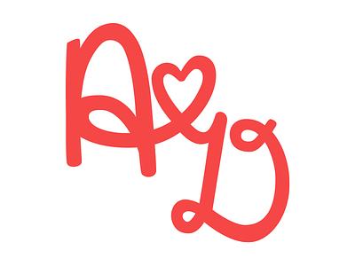 Angie & Danny Wedding Logo v2 logo wedding dangie