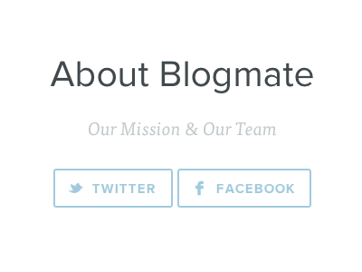 About Blogmate about typography buttons social