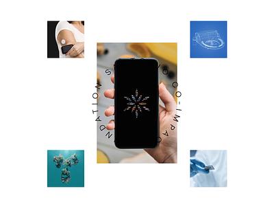 Santorio Foundation health science philanthropy orbit geometric pattern flower minimal typography user interface mobile c4d animation 3d case study website web branding brand logo