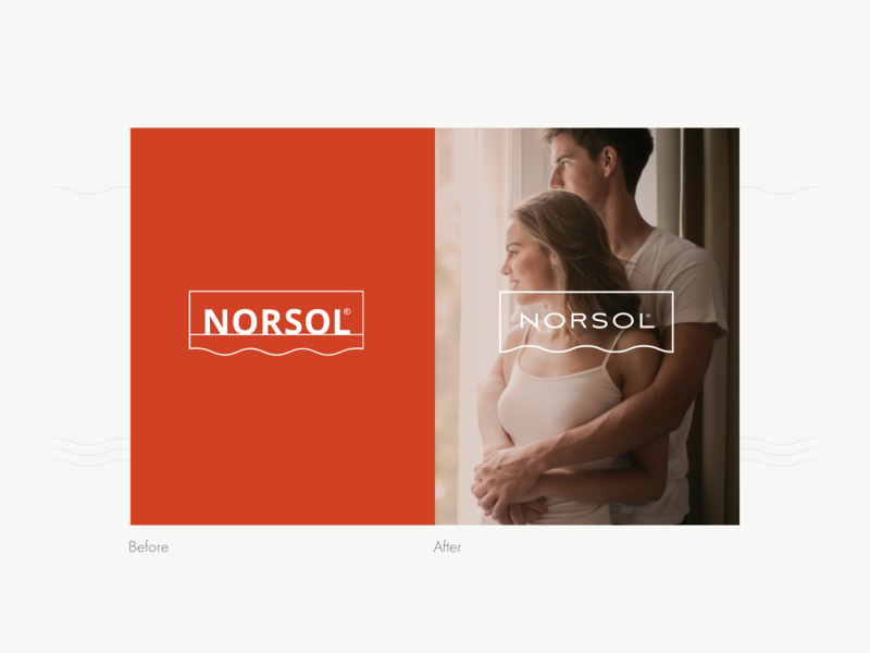 Norsol Rebranding environment smart solar sun protection curtains sunshades shades awnings factory tailored minimal typography user interface case study app website web branding brand logo