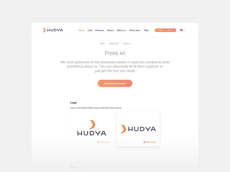 Hudya  press kit