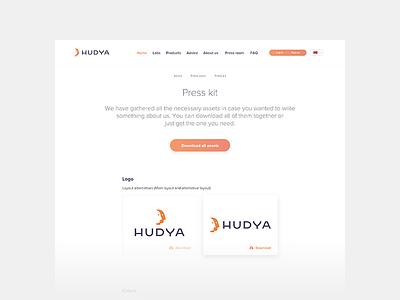 Hudya  Press Kit norway detail logo package media kit press kit