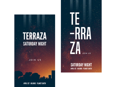 Terraza banner outdoor party rooftop invitation flyer