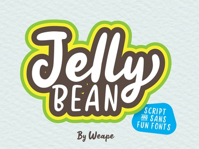 Jelly Bean - Fun Fonts brush logotype typedesign branding poster logo calligraphy font hand lettering typography lettering