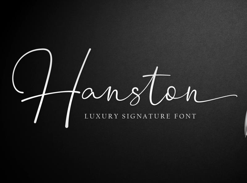 Hanston - Luxury Signature Font font typography social media