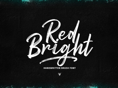 Red Bright – Brush Font dry brush brush script font fonts typedesign branding poster logo type design calligraphy hand lettering typography lettering