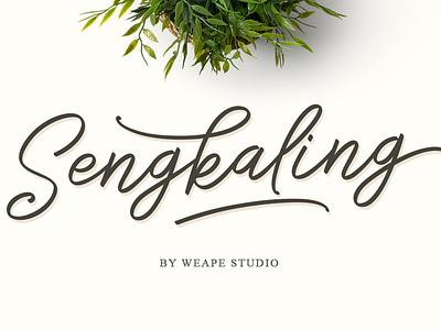 Sengkaling Script fashion font script lettering logotype fonts branding typography hand lettering typedesign logo calligraphy type design lettering