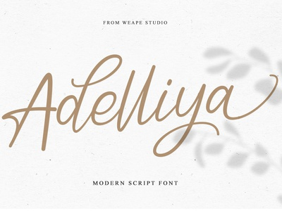 Adelliya Script Font script font script logo poster branding typedesign type design font calligraphy hand lettering typography lettering