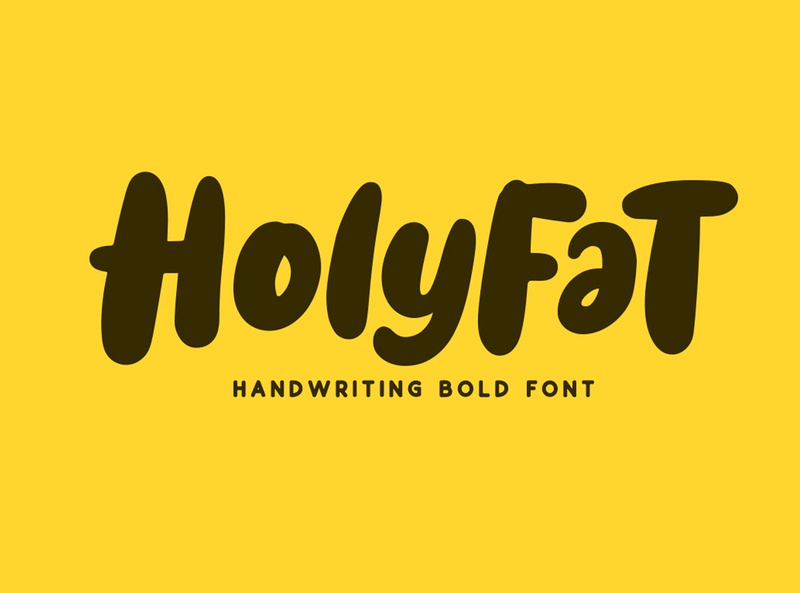 Holyfat comic funny bold typedesign branding poster logo type design font calligraphy hand lettering typography lettering
