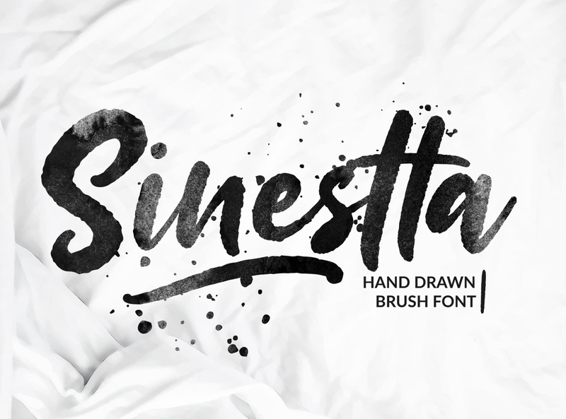 Sinestta type typeface brush font hand drawn script typedesign branding logo poster drawing font type design calligraphy hand lettering typography lettering