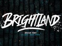 Brightland poster art stroke metal graffiti band rough brush font grunge poster fonts logotype illustration typedesign branding type design calligraphy hand lettering typography lettering
