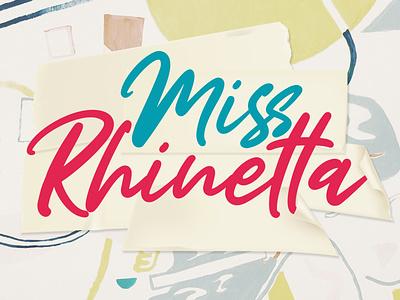 Miss Rhinetta - Handwritten Font summer fashion packaging script logotype branding logo type design calligraphy font hand lettering lettering typography
