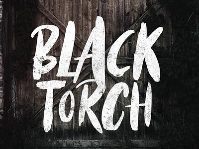 Black Torch - Dry Brush Font paintbrush poster logo type design font