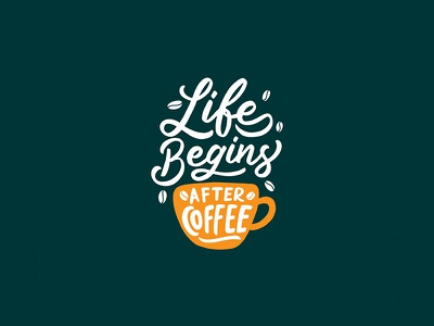 Live Begins After Coffee logo maker typewritter logo font logotype script font type typography lettering hand lettering