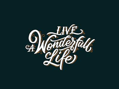 Live A Wonderful Life logo maker typewritter logo font logotype script font type typography lettering hand lettering