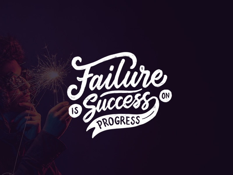 Failure Is Success On Progress logo maker typewritter logo font logotype script font type typography lettering hand lettering
