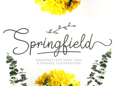 Springfield wedding font logo maker typewritter logo font logotype script font type typography lettering hand lettering