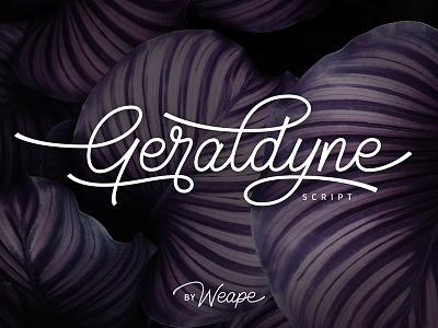 Geraldyne Script monoline logo maker typewritter logo font logotype script font type typography lettering hand lettering