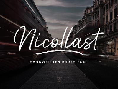 Nicollast Handwritten Brush Font logo design drawing logo font flyer logo maker typewritter script poster fonts logo logotype typedesign branding calligraphy type design font hand lettering typography lettering