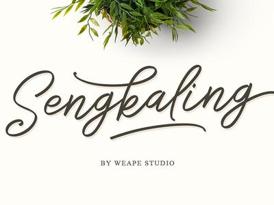 Sengkaling Font logo design handlettering type logo maker typewritter logo font script flyer logotype typedesign branding fonts logo calligraphy type design font hand lettering typography lettering