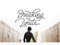 Breaking the limits - Geraldyne Font Used