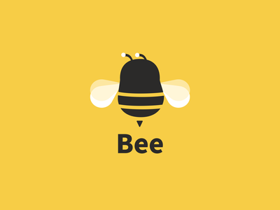 A Cute Bee logo banding illustration icon