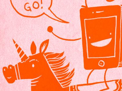 Teamwork Makes the Dreamwork poster illustration