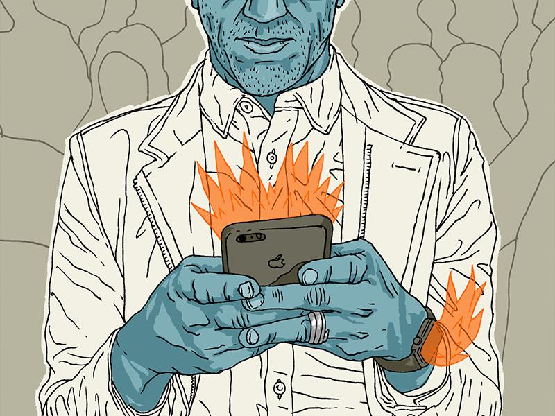 Notifications Burning Up illustration