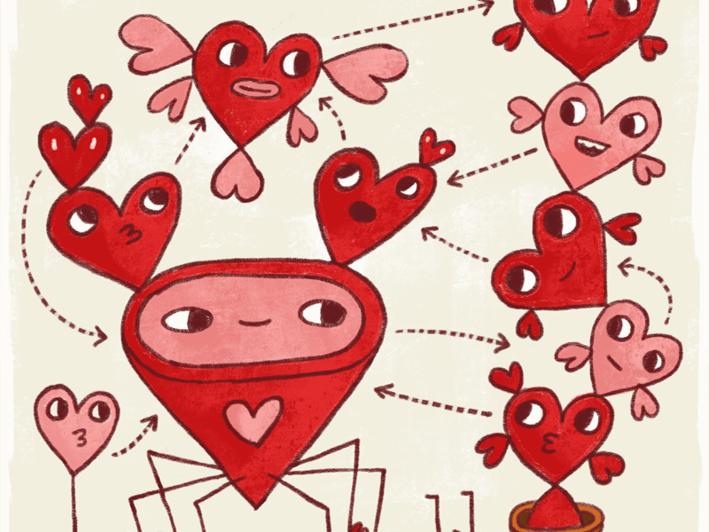 Love is weird (also complicated) valentinesday procreate illustration