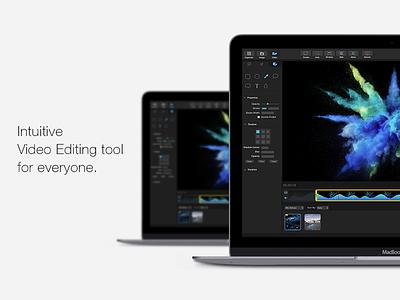 Intuitive Video Editing Interface of a Mac application player utility recording timeline desktop dark mac ux edit video intuitive ui