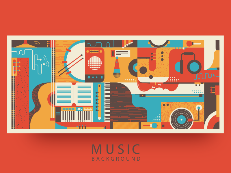 Music Background By Kit8 Dribbble Dribbble