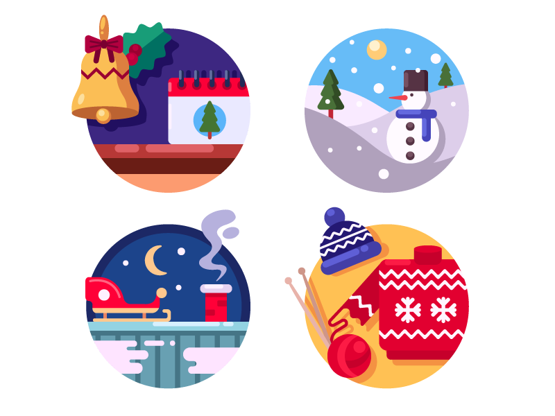 Christmas Holidays Icon.Christmas Holidays Icons By Kit8 On Dribbble