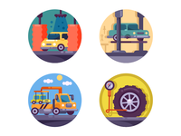 Car servise icons