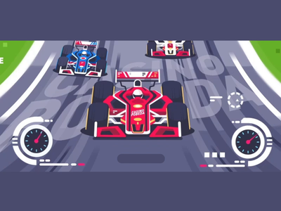 Race animation route front explainer video drive competition race formula 1 car after effects design vector flat animation icon illustration kit8